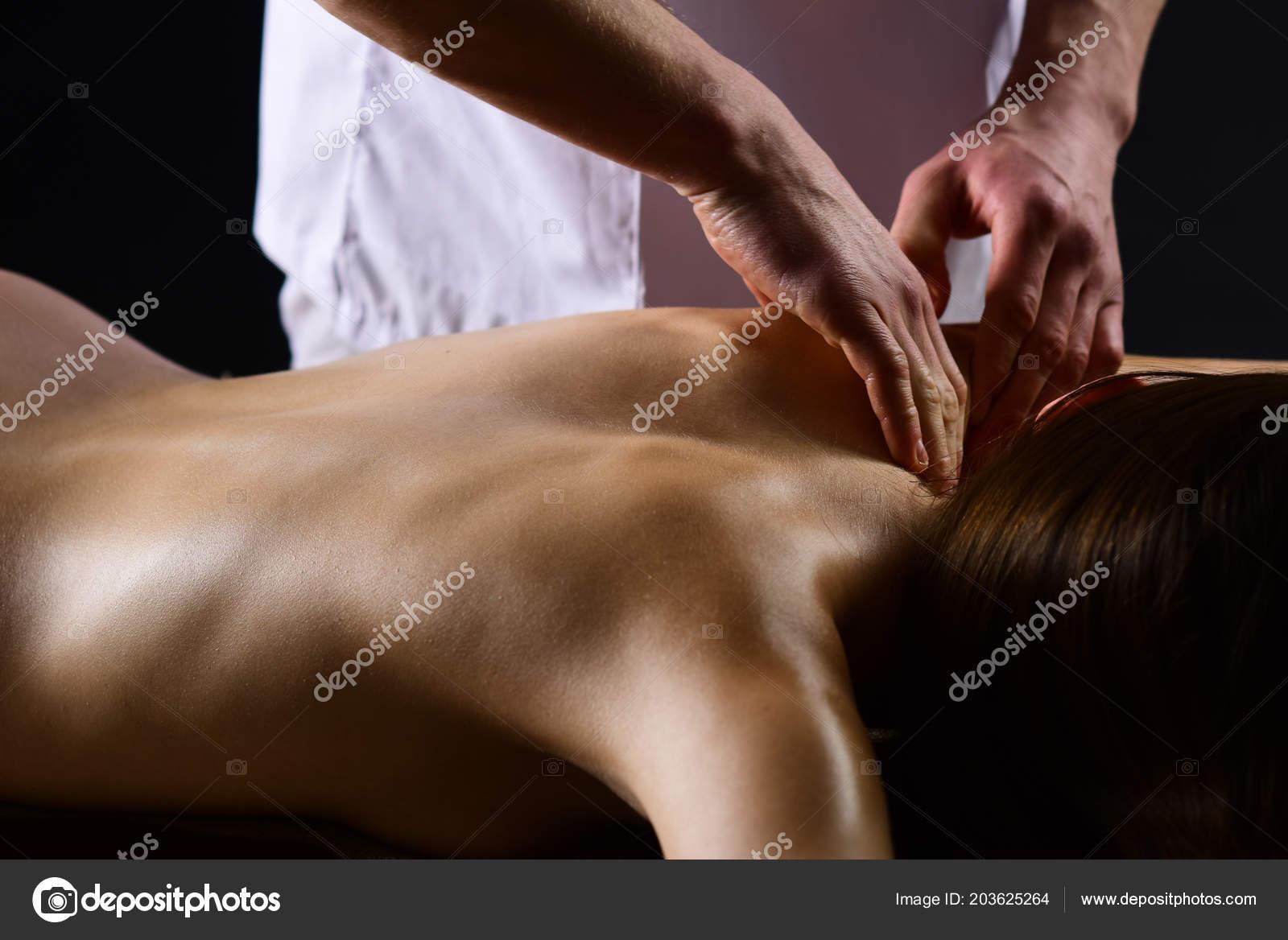 Nacked women body massage