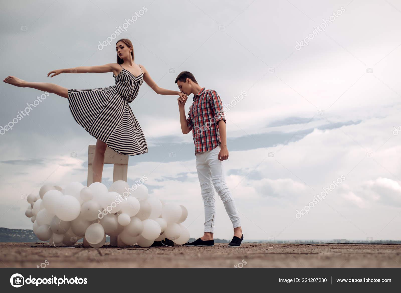 Cita Romántica Pareja De Ballet En Las Relaciones De Amor Pareja