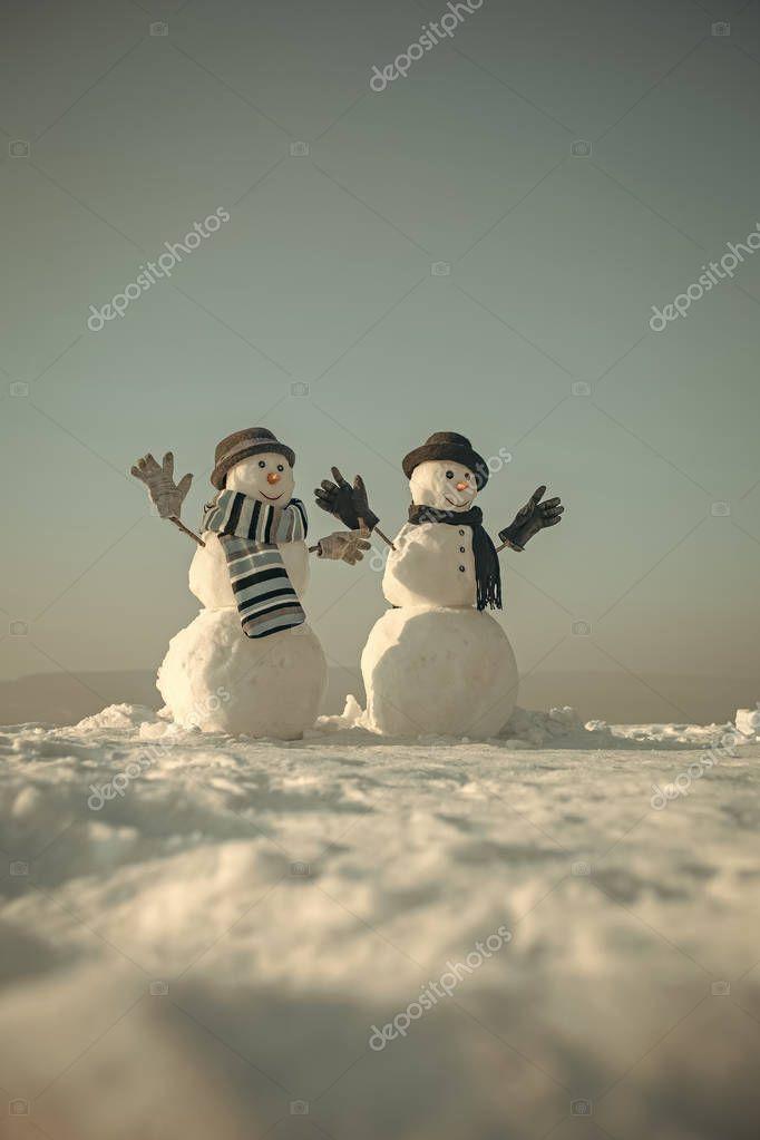 New year snowman spy agent.