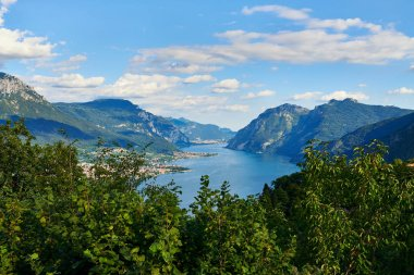 Beautiful landscape of Lake Como photographed from Civenna in summer.
