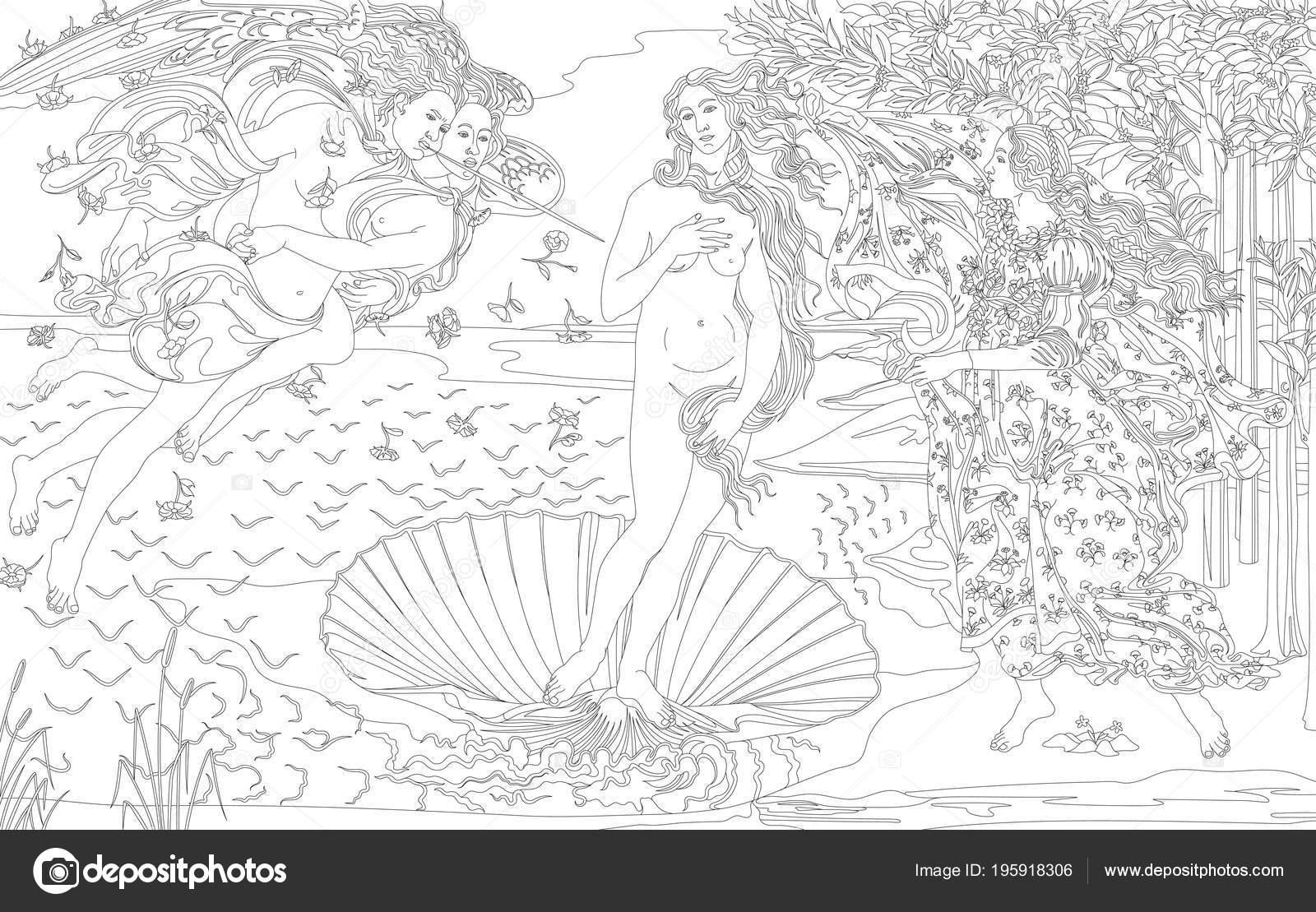 Nacimiento Venus 1483 1485 Por Página Sandro Botticelli Para ...