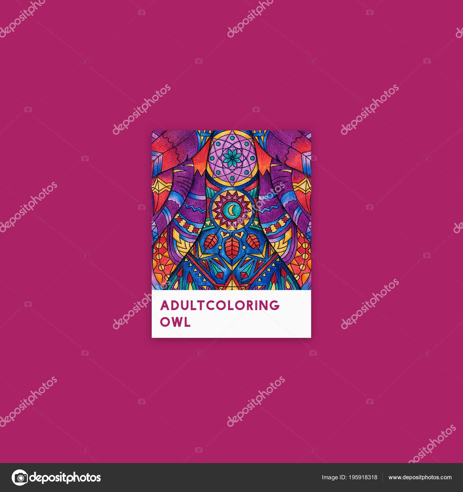 Volwassen Kleurplaten Uil.Roze Uil Volwassen Kleurplaten Van Illustratie Stockfoto