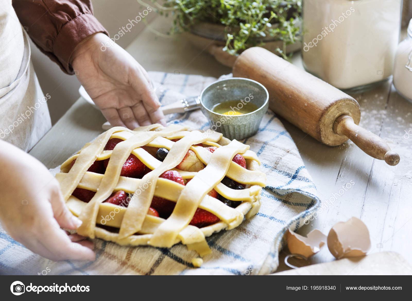 Una Fruta Para Hornear Persona Pie Idea Receta Comida