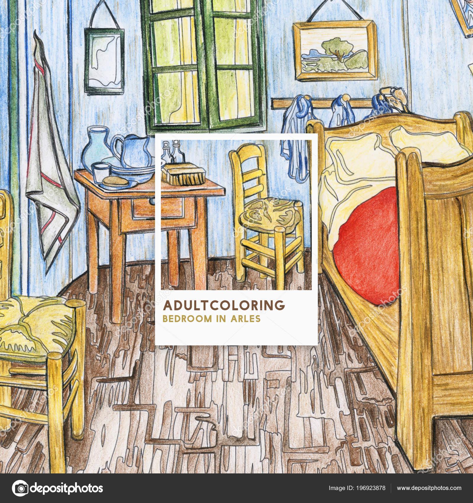 Genial Chambre Arles 1888 Vincent Van Gogh Coloriage Adulte U2014 Photo