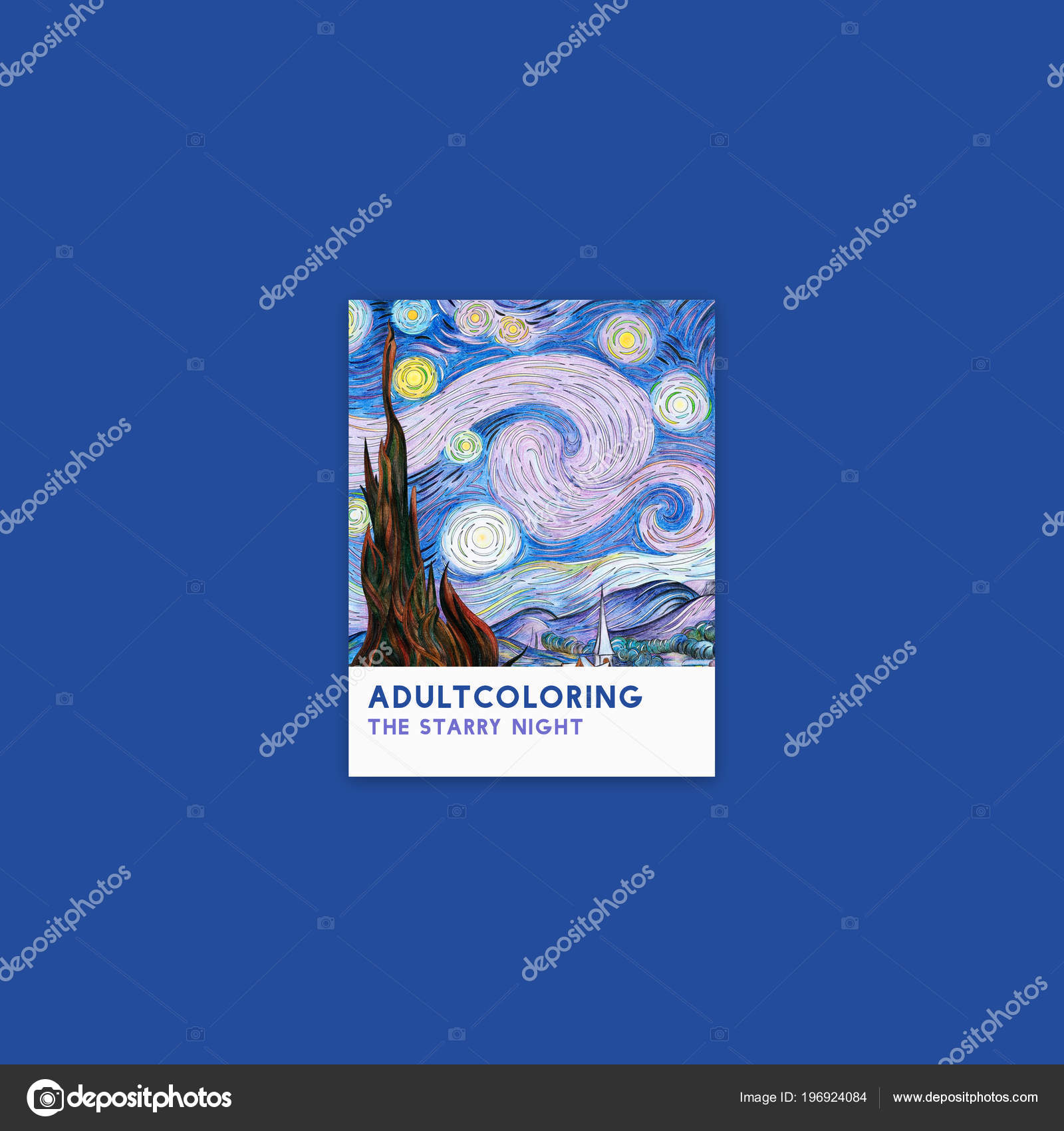 Noche Estrellada 1889 Vincent Van Gogh Página Para Colorear Adultos ...