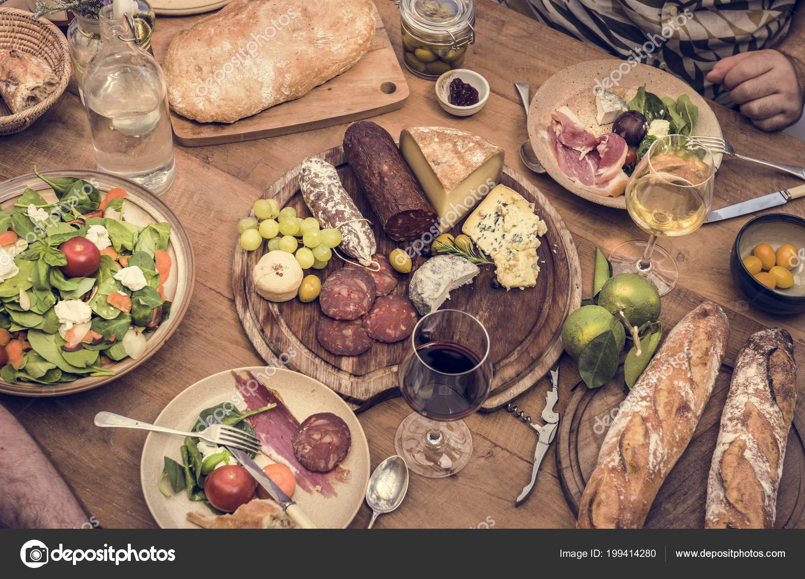 Assorted Cold Cuts Cheese Platter Food Photography Recipe Idea Stock Photo C Rawpixel 199414280