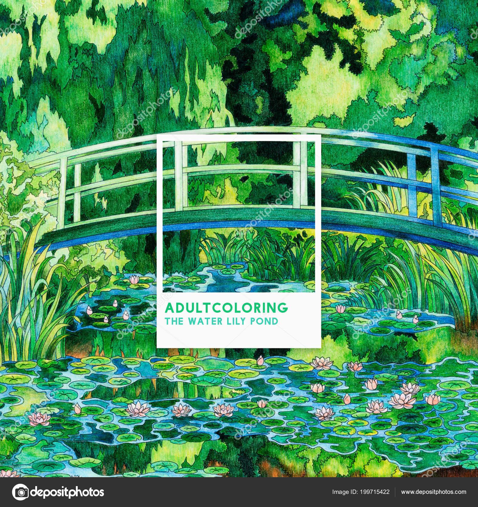 Kleurplaten Waterlelies.Waterlelie Vijver 1899 Van Claude Monet Volwassen Kleurplaat