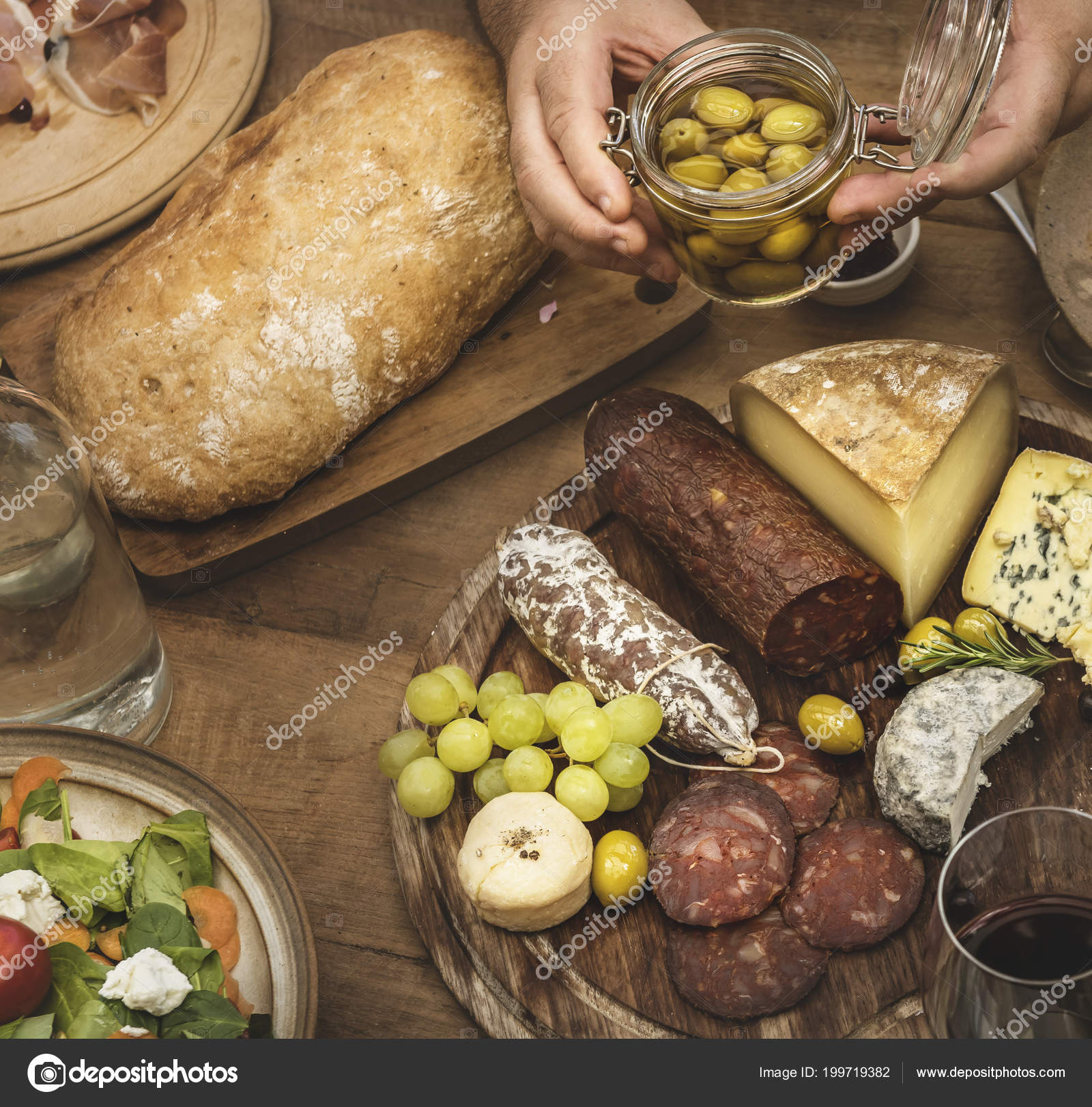 Assorted Cold Cuts Cheese Platter Food Photography Recipe Idea Stock Photo C Rawpixel 199719382