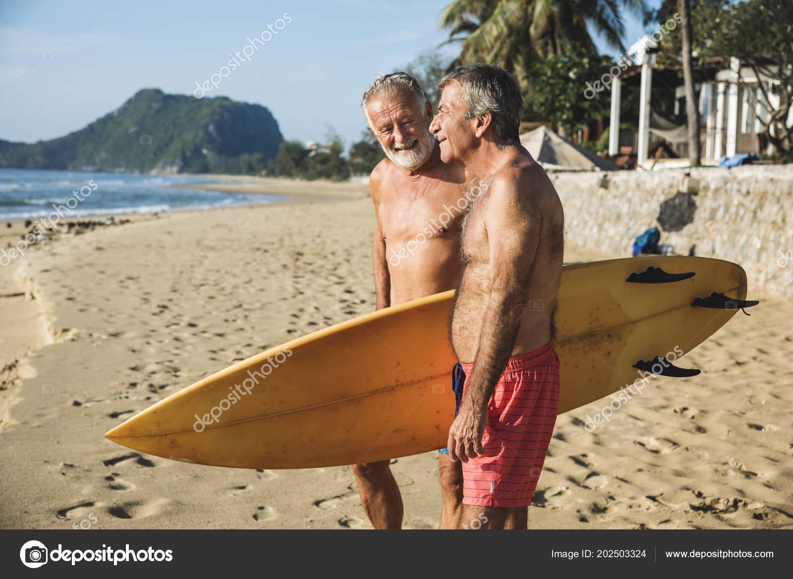 mature on beach