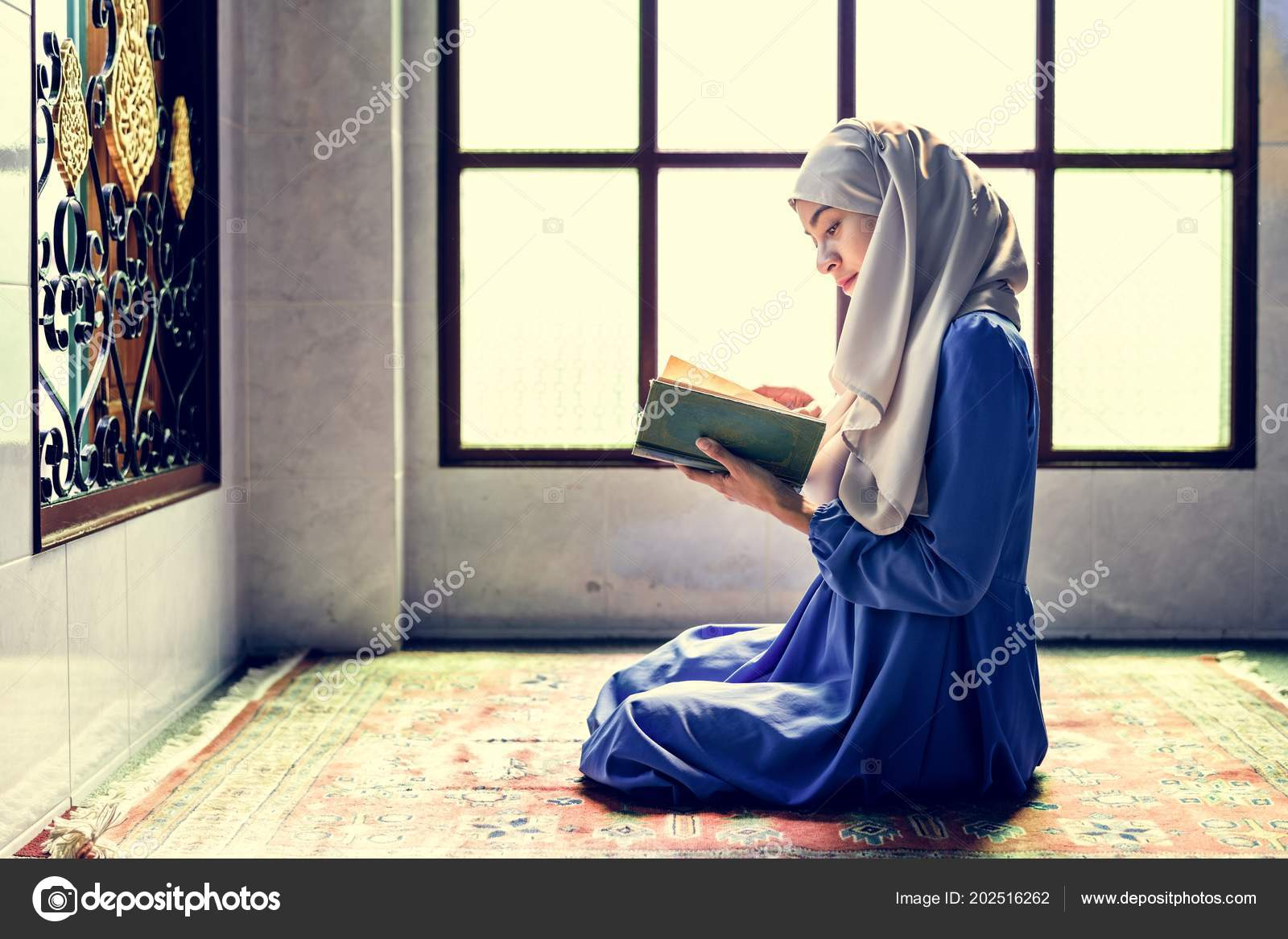 Muslim Woman Reading Quran — Stock Photo © Rawpixel #202516262