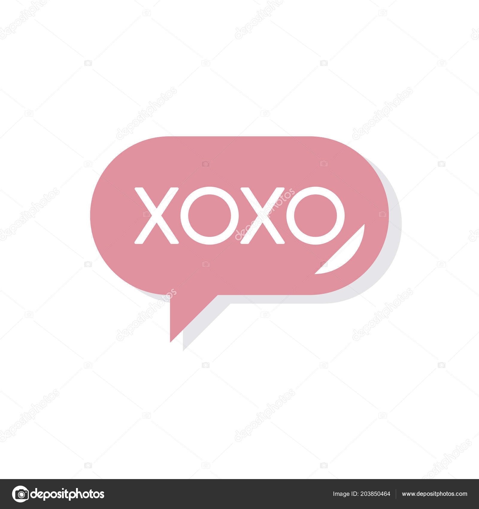 Xoxo Message Valentines Day Icon Stock Photo C Rawpixel 203850464