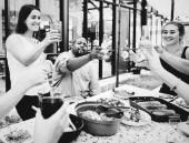 Fényképek Group of friends enjoying a summer party