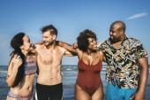 Fotografie Freunde, Spaß am Strand