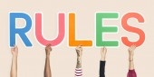 Fotografie Colorful letters forming the word rules