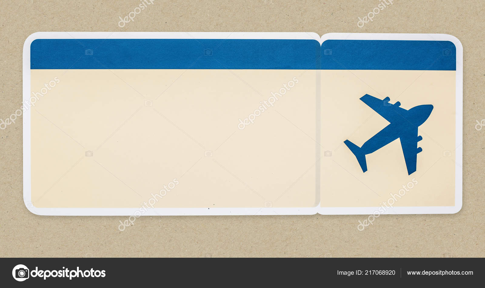 Boarding Pass Isolated Background Stock Photo C Rawpixel 217068920
