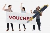People won a gift voucher