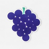 Photo Fresh grapes icon isolated