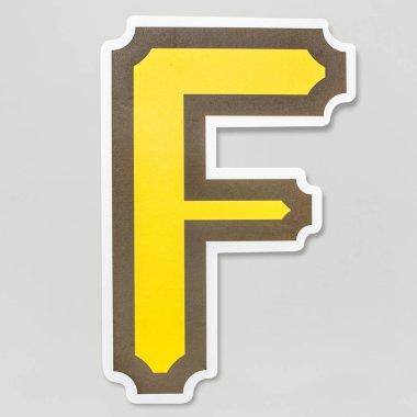 English alphabet letter F icon isolated