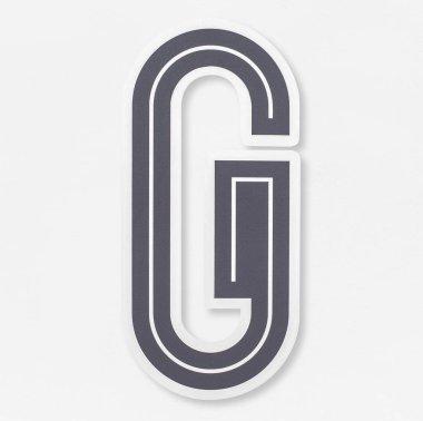 English alphabet letter G icon isolated
