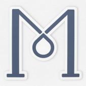 Fotografia Icona di lettera M alfabeto inglese isolato