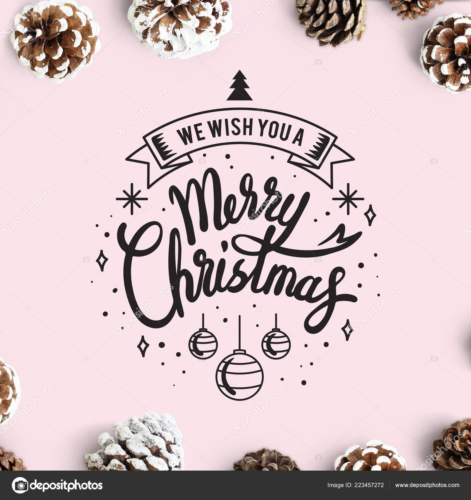 Wish You Merry Christmas Card Mockup — Stock Photo © Rawpixel #223457272