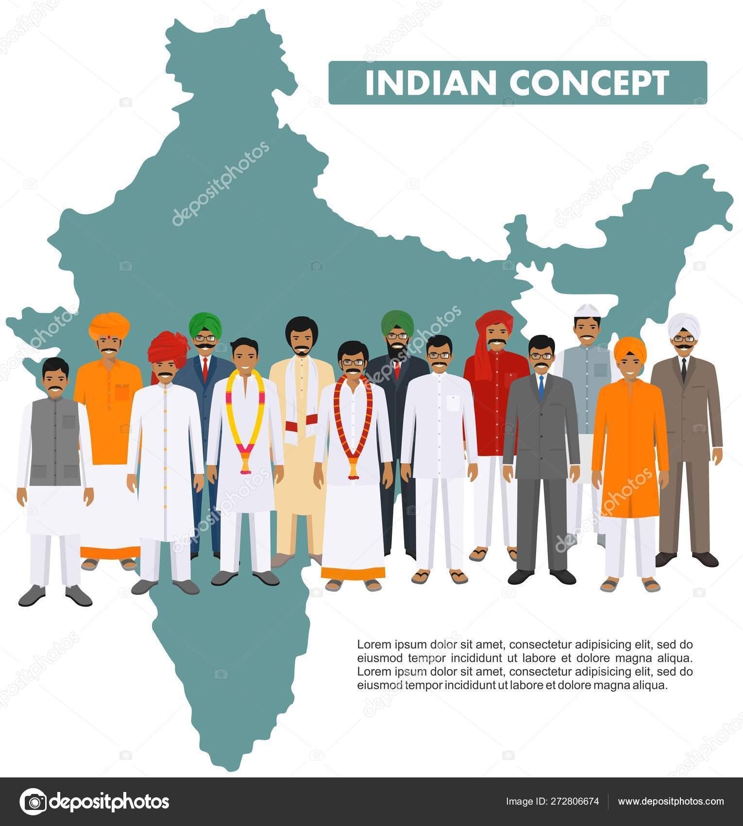 Family and social concept  Group indian young and adult