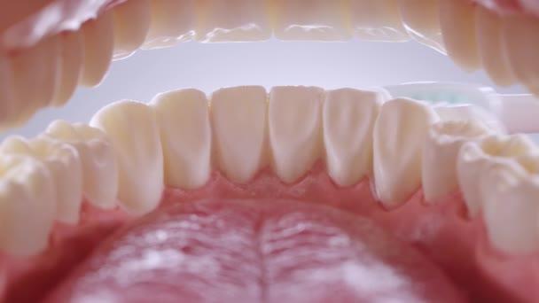 Vnitřní pohled na čištění zubů