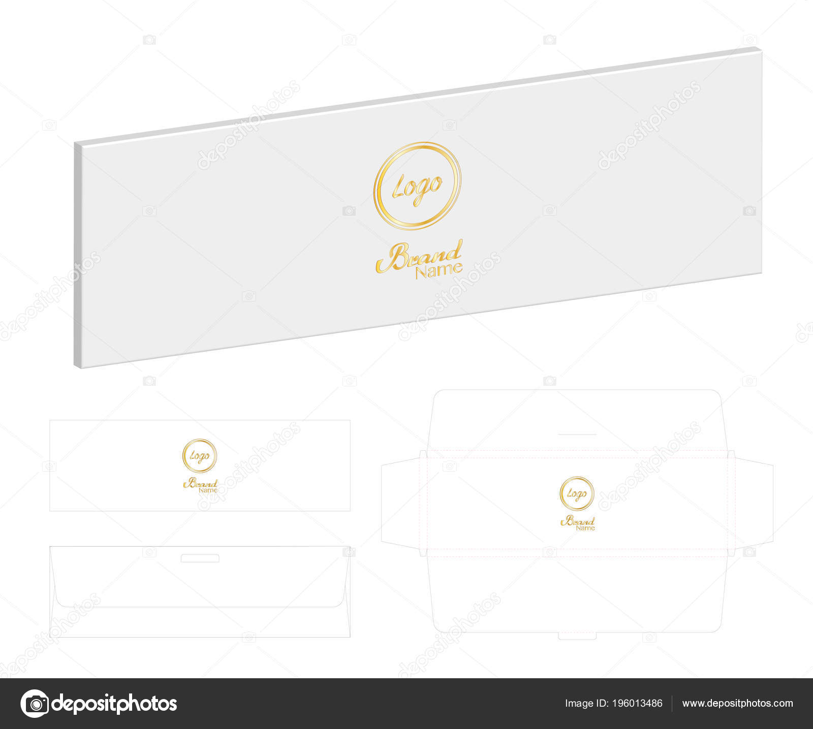 Box Packaging Die Cut Template Mockup — Stock Vector © siiixth ...