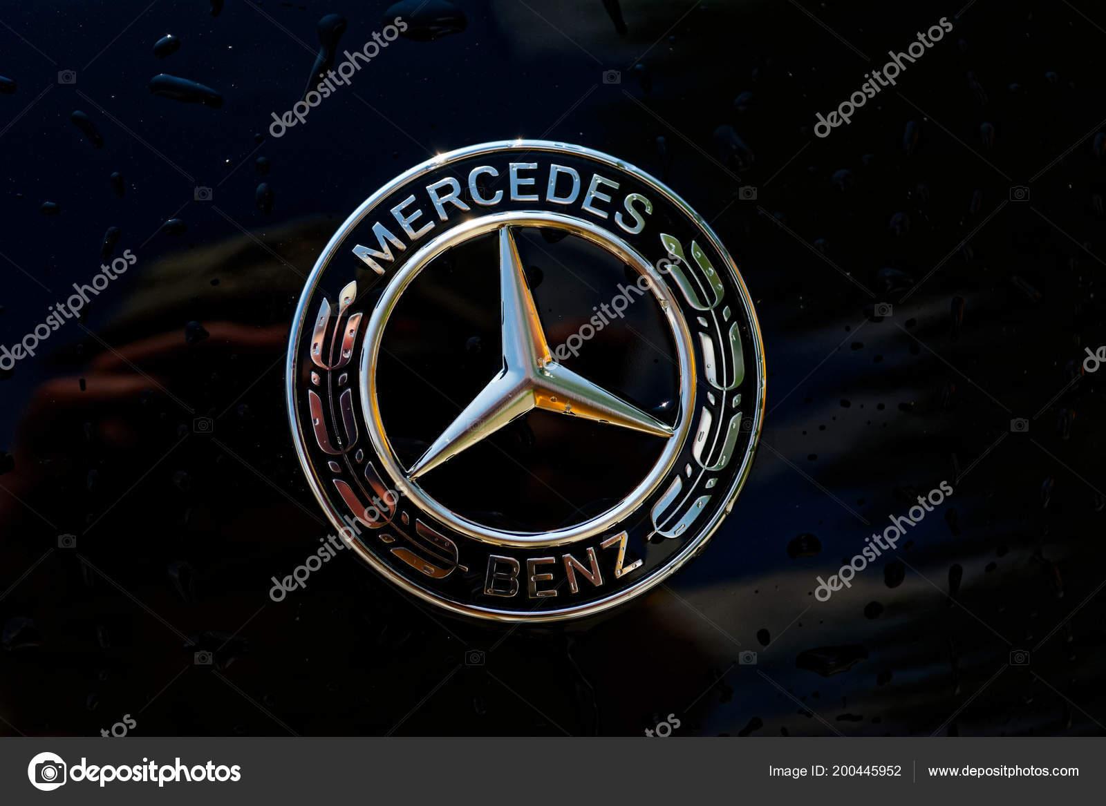Kiev Juni Mercedes Benz Teken Close Juni 2018 Kiev Oekraine