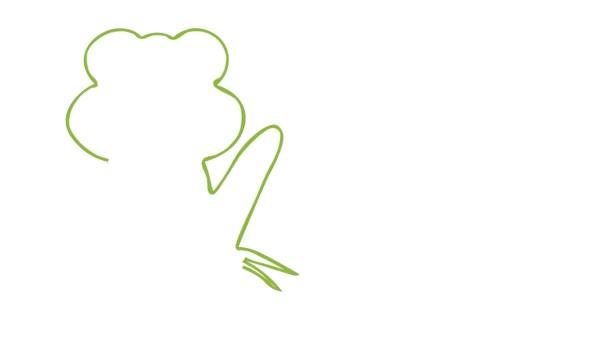 Nápis-Světový den žabí na bílém.