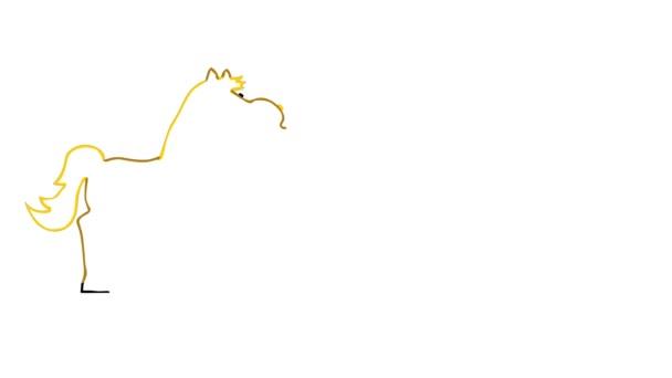 A Kentucky Derby illusztrált banner lóval.