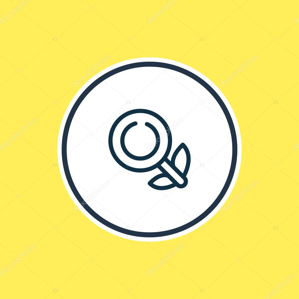 illustration of organic search icon line. Beautiful advertisement element also can be used as magnifier icon element.