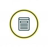 illustrazione della linea di icona del sito Web. Elemento multimediale bella è anche utilizzabile come elemento icona browser.