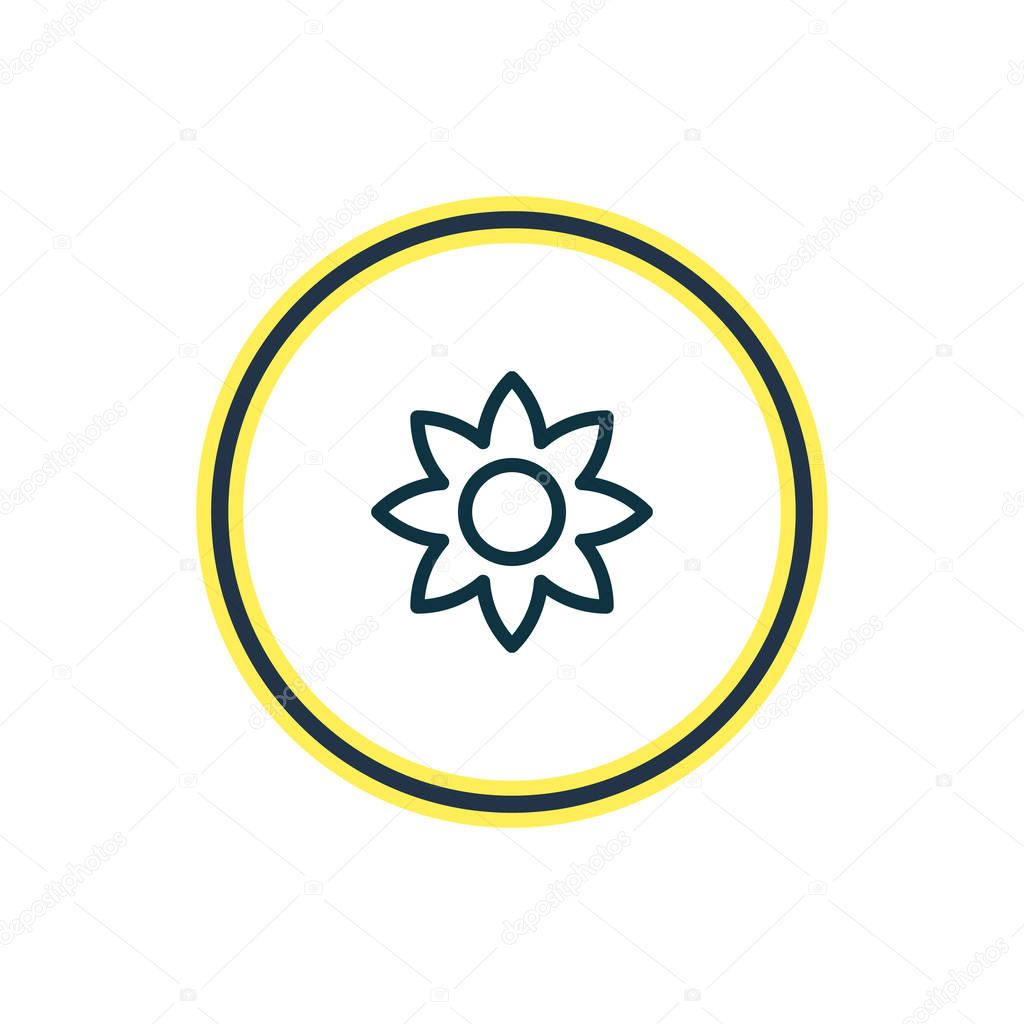 Vector illustration of flower icon line. Beautiful lifestyle element also can be used as petal icon element.