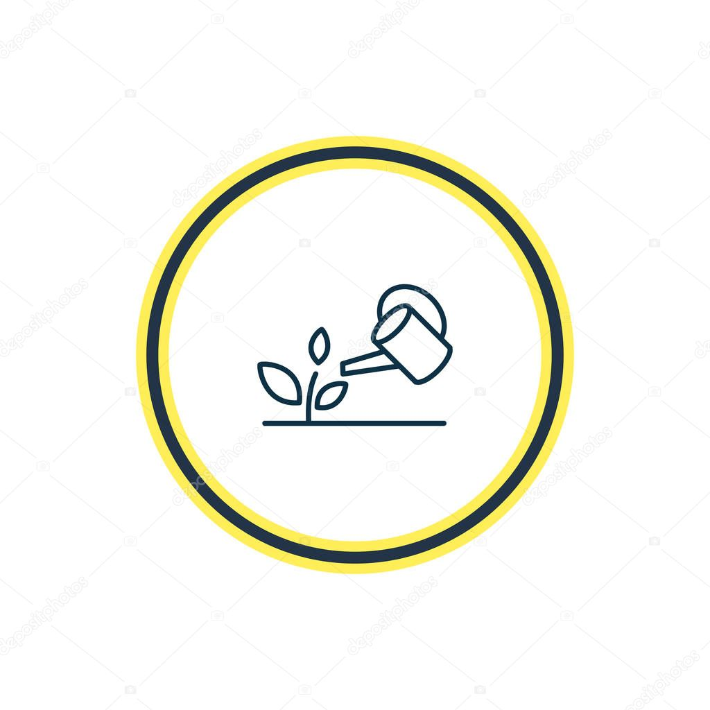 illustration of gardening icon line. Beautiful hobby element also can be used as watering can icon element.