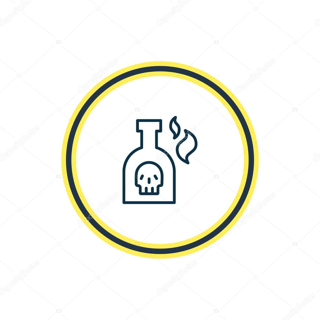 illustration of bottle of rum icon line. Beautiful marine element also can be used as toxic icon element.