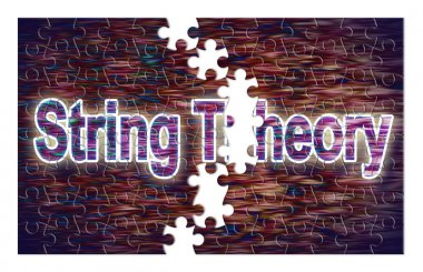 Search for the solution of String Theory - concept image in jigs