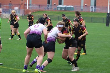 women rugby match, Grand Canyon University Lopes vs the Arizona State University Sun Devils at GCU Stadium in Phoenix, Arizona/ USA February 2,2019