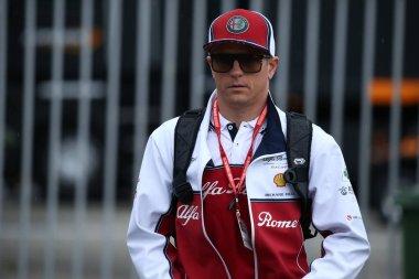 Monza, Italy. 6-8 September 2019. Formula 1 Grand Prix of Italy. Kimi Raikkonen of Alfa Romeo Racing in the paddock during the F1 Grand Prix of Italy