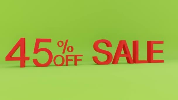 45 százalékos eladás animáció