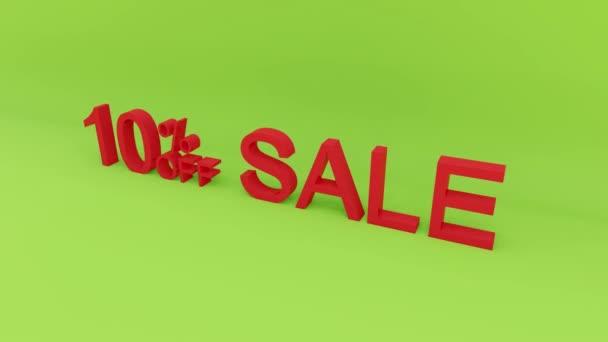 10 százalékos eladás animáció