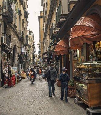Antique narrow street - Vico dei maiorani ,Spaccanapoli area.