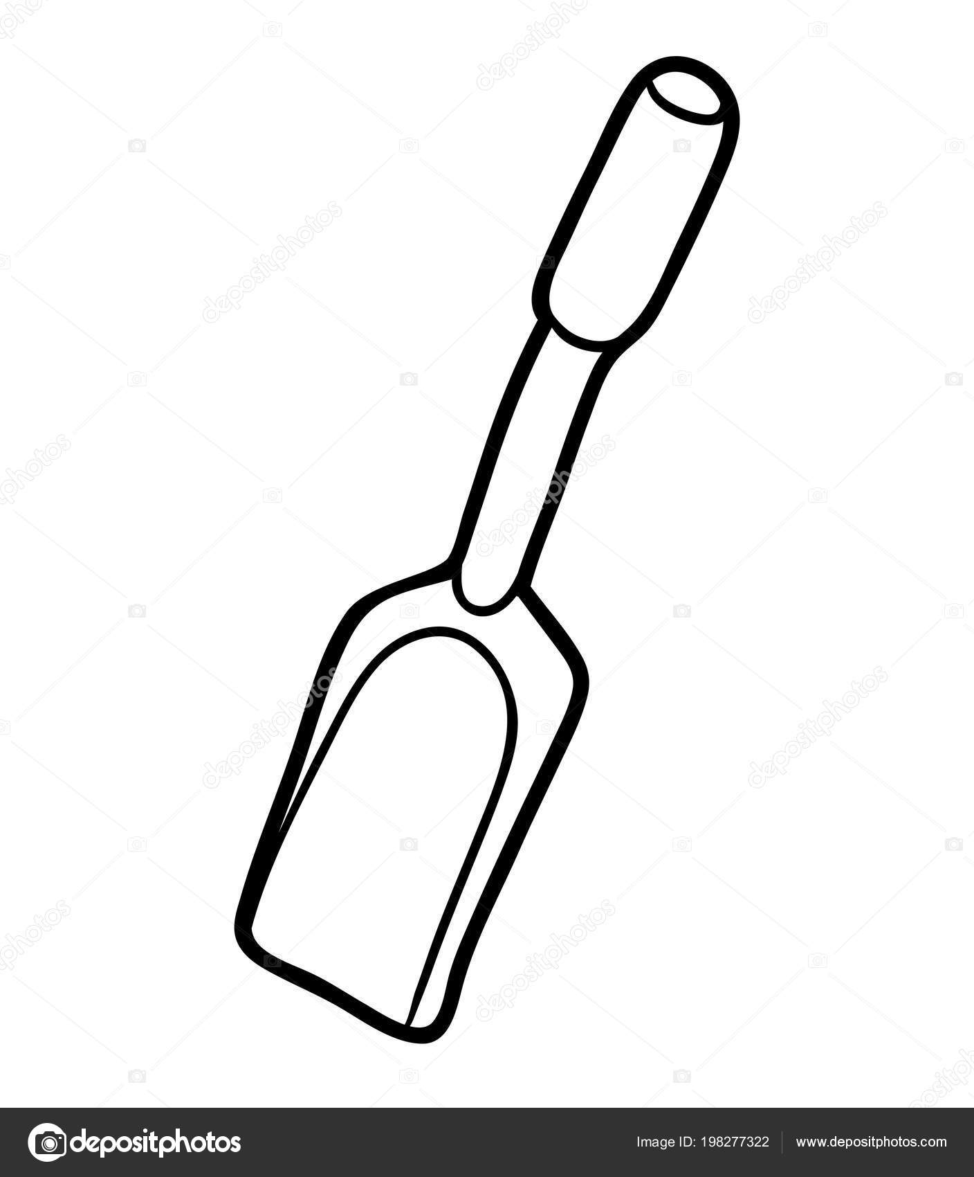 раскраска лопата для детей раскраска детей лопата