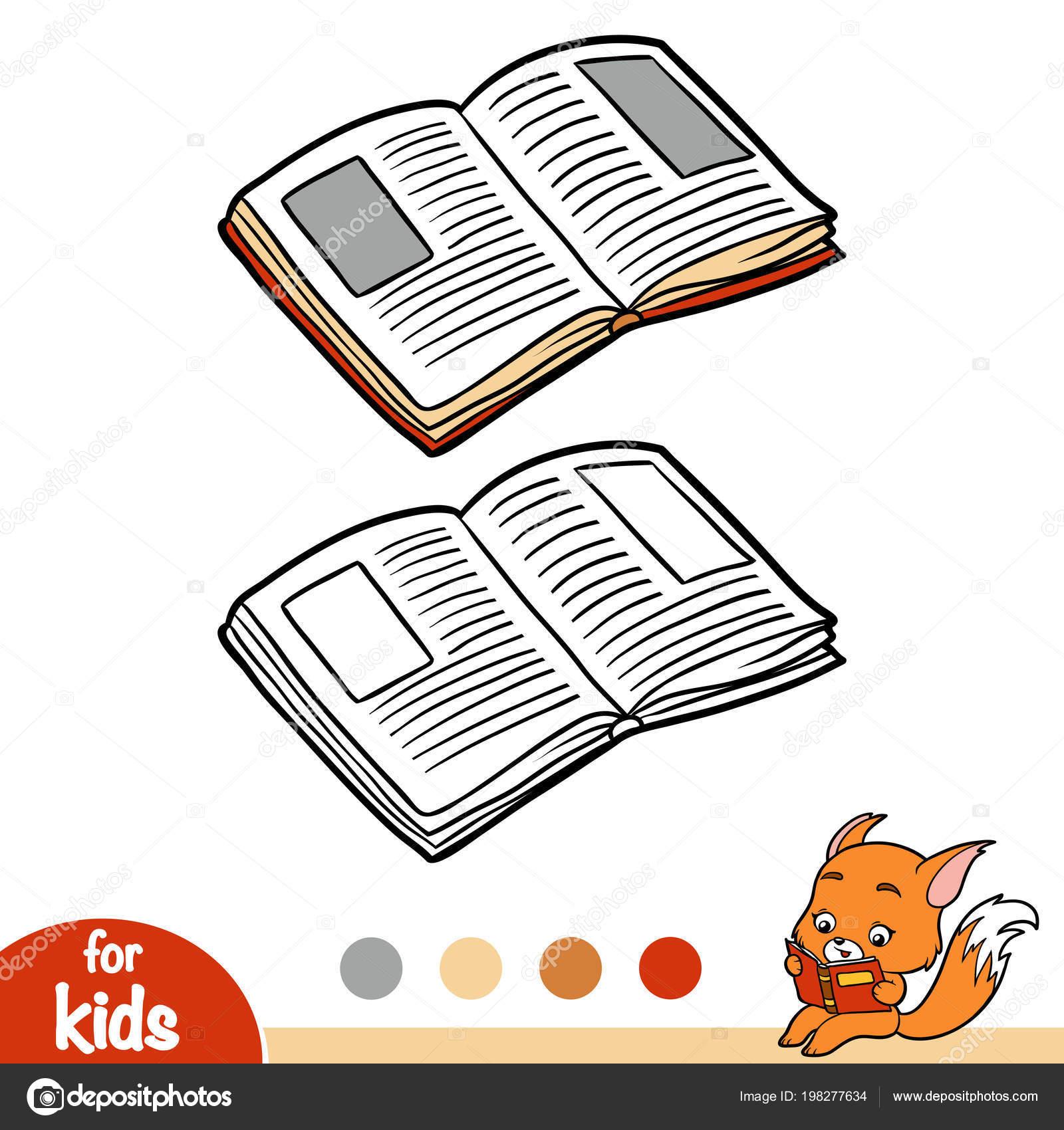 Açık Kitap çocuklar Için Boyama Kitabı Stok Vektör Ksenyasavva