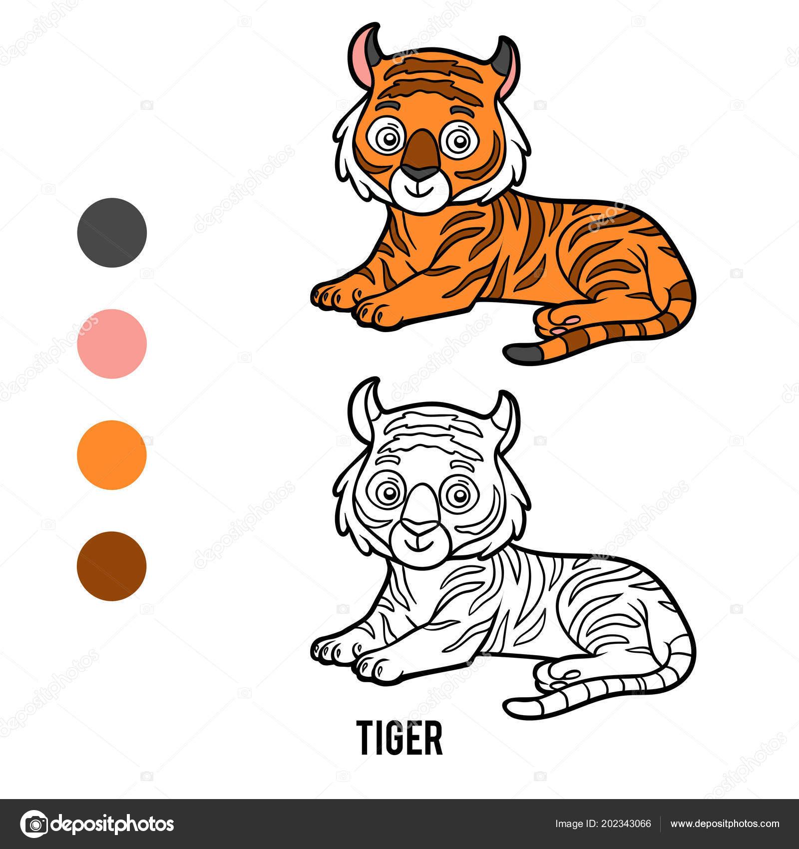Immagini Tigre Da Disegnare Per Bambini Libro Colorare Bambini