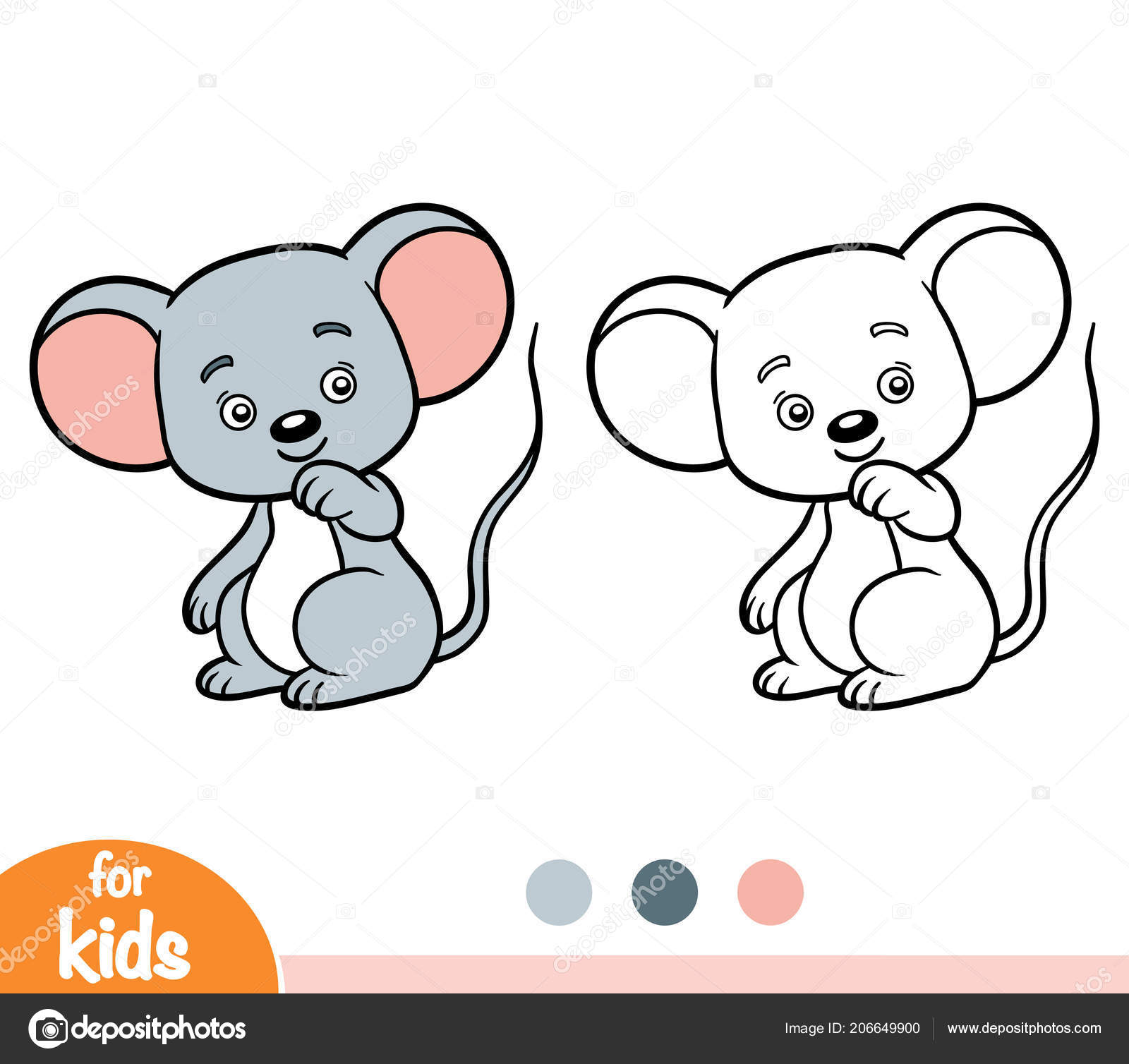 Книжка Раскраска Детей Мыши — Векторное изображение ...