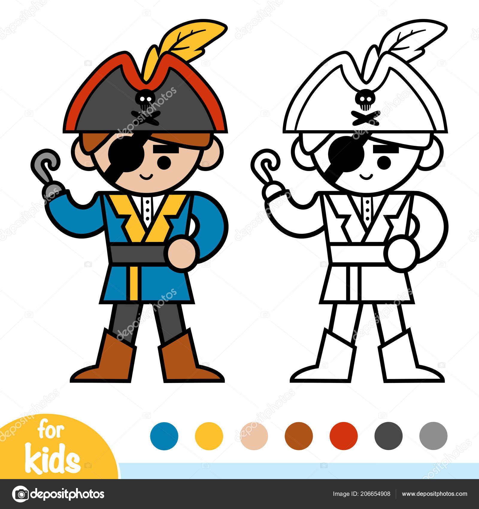 Livre Coloriage Pour Les Enfants Pirate Image Vectorielle