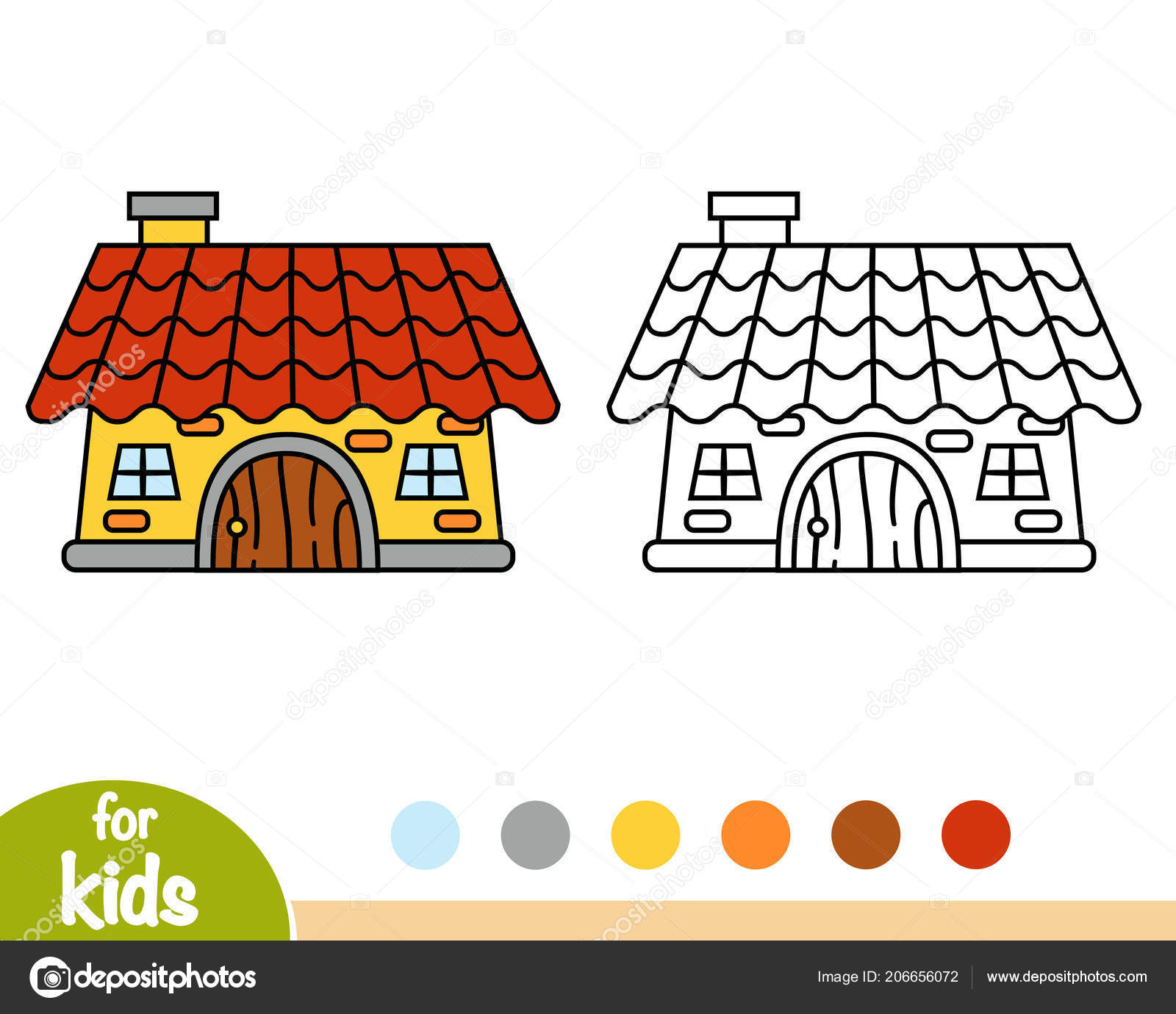 Coloring Book Children House Stock Vector C Ksenya Savva 206656072