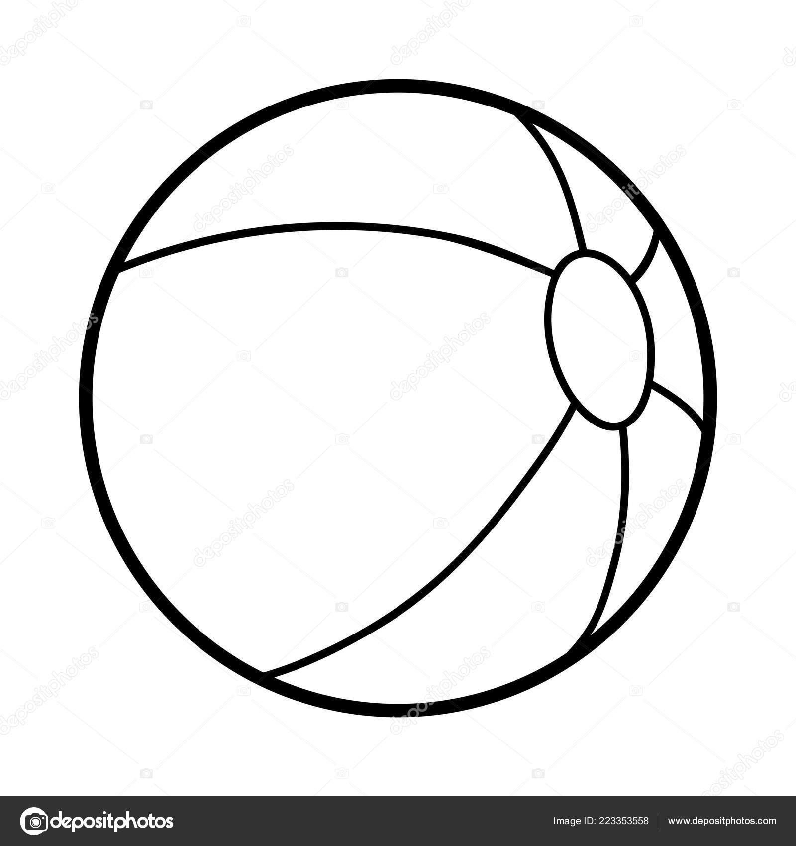 image regarding Beach Ball Printable named Images: printable seaside ball coloring site Coloring Ebook