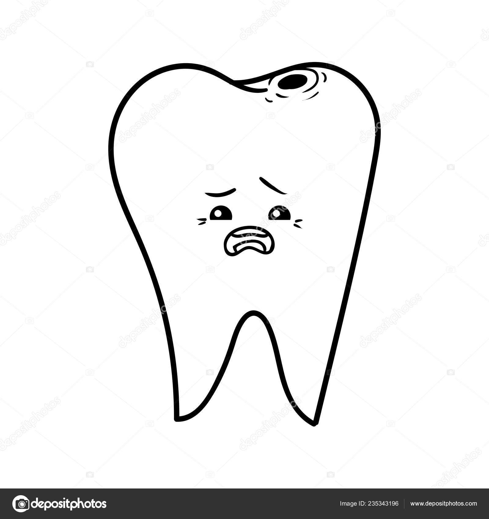 Coloring Book Children Bad Tooth Stock Vector C Ksenya Savva